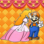 Peach Kissing Mario
